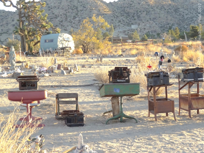 Pioneertown at Dusk, Thanksgiving Weekend 2012