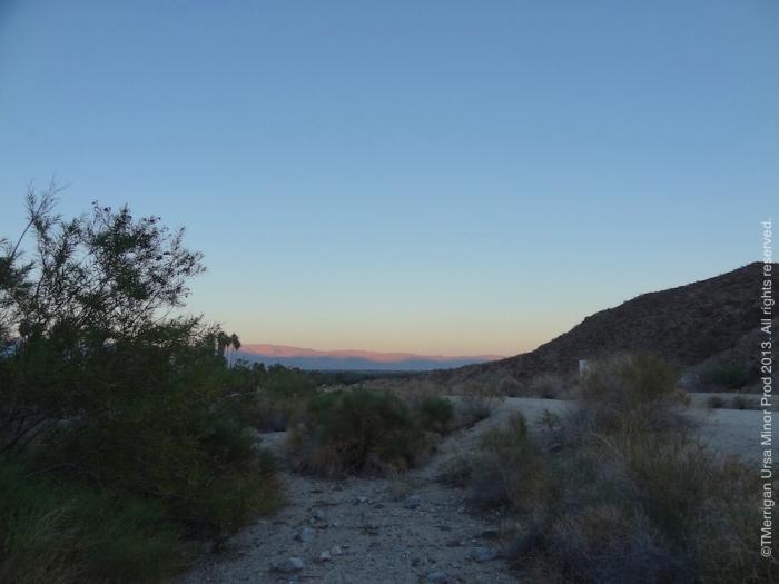 Desert Sunset, Hwy 62 Art Tours Fall 2013