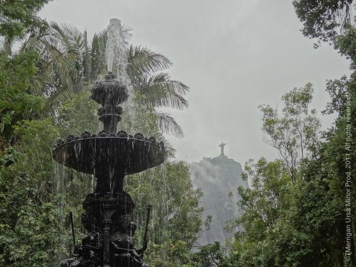Rio's Botanical Garden (Jardim Botanico) beneath the Corcovado, Rio de Janeiro 2011